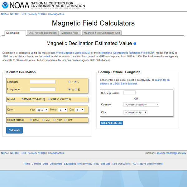 You can look up your local declination using the NOAA Magnetic Field Calculator .